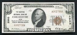 1929 $10 Le Nb Central De Chillicothe, Oh Monnaie Nationale Ch. #2993 Unc