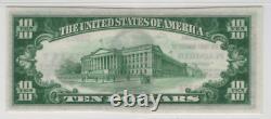 1929 10 $ Premier Billet De Banque National Plainfield Indiana Monnaie Pmg Choice Unc 63