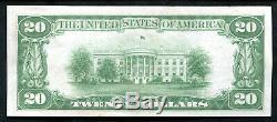 1929 20 $ Le Riggs De Washington Nb, D. C. Monnaie Nationale Ch # 5046 Unc (f)
