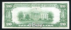 1929 20 $ Le Riggs De Washington Nb, D. C. Monnaie Nationale Ch # 5046 Unc (k)