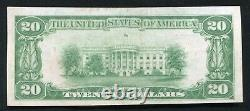 1929 20 $ Springs-first Nb Cambridge Springs, Pa Monnaie Nationale Ch. #9430 Unc