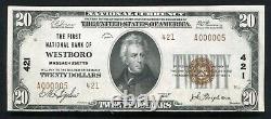 1929 20 $ Tyii Le Premier Nb De Westboro, Ma Monnaie Nationale Ch. #421 À Propos De Unc