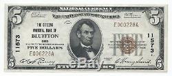 1929 $ 5 Bluffton, Oh Billet De Banque Libellé En Monnaie Nationale Facture Ch 11573 Unc Type 1 Ohio