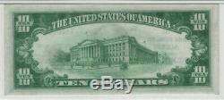 1929 T1 10 $ National Banknote Monnaie Albion Nebraska Pmg Unc 64 Epq (158a)