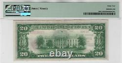1929 T1 20 $ Première Monnaie Nationale Lincoln Nebraska Pmg Choice Unc 64