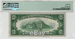 1934 A 10 $ Argent Note Devise Fr. 1702 Aa Bloquer Pmg Choice Unc 64