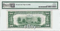 1934 Atlanta $ 20 Mule Dgs Billet De La Réserve Fédérale Pmg 65 Epq Gem Devise Frn