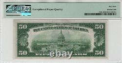 1934 C 50 $ Réserve Fédérale Note Devise Fr. 2105-b Ba Bloquer Pmg Gem Unc 65 Epq