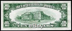 1934-c 10 $ DIX Dollars Blue Seal Silver Certificat Devise Note Gem Unc
