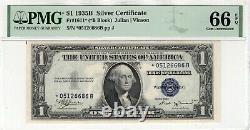 1935 B $ Silver Certificate Star Note Devise Fr. 1611 Pmg Gem Unc 66 Epq
