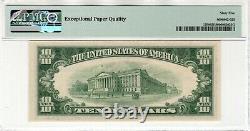 1953 B $10 Argent Certificat Note Devise Fr. 1708 Aa Bloc Pmg Gem Unc 65 Epq