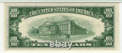 1953 B $10 Argent Certificat Note Devise Fr. 1708 Pmg Gemm Unc 66 Epq (138a)