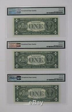 1963 1 $ Réserve Fédérale Note Devise District Mule Set Pmg Unc (616a)