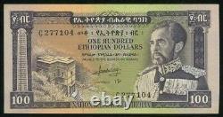 1966 No Date Currency Ethiopia 100 Dollar Emperor Haile Selassie P# 29 Crisp Unc