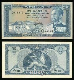 1966 No Date Currency Ethiopia 50 Dollar Emperor Haile Selassie P# 28a Crisp Unc