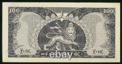 1966 No Date Monnaie Ethiopie 100 Dollar Empereur Haile Selassie P# 29 Crisp Unc
