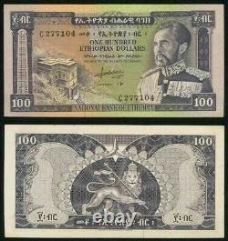 1966 Pas De Date Devise Éthiopie 100 Dollar Empereur Haile Selassie P# 29 Crisp Unc