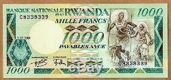 1981 Rwanda 1000 Francs P. 17a Unc Gem Banknote Monnaie Afrique