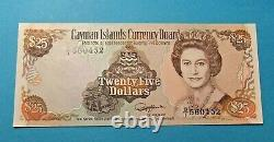 1991 Cayman Islands Currency Board 25 Dollar Bank Note Unc