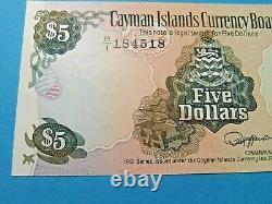 1991 Cayman Islands Currency Board 5 Dollar Bank Note Unc