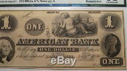 1 1856 Dover $ Indiana Colline En Monnaie Obsolète Bank Note Bill Unc61 Remainder