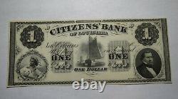 $1 18 New Orleans Louisiana La Obsolete Currency Bank Note Bill! Crisp Unc++