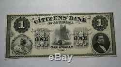 1 $ 18 Nouvelle-orléans En Louisiane La Obsolète Monnaie Bank Note Bill! Crisp Unc ++