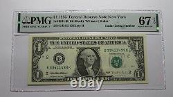 1 $ 1995 Numéro De Série Du Radar Réserve Fédérale Devise Bill Pmg Unc67epq