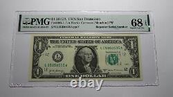 1 $ 2017 Répétition Numéro De Série Réserve Fédérale Devise Bill Unc68epq