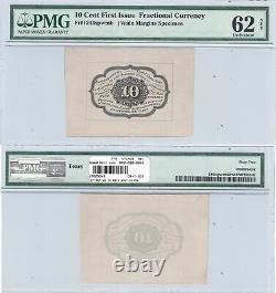1ère Édition 10 Cents Monnaie Fractionnelle Specimen Fr 1243sp Pmg Unc-62 Net