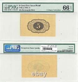1ère Édition 5 Cents Preuve De Monnaie Fractionnelle Fr 1231 Sp Pmg Gem Unc-66 Epq