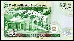 2005 Royal Bank Of Scotland De 50 Livres Billet Monnaie Réelle Unc Dernier Numéro