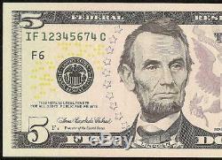 2006 5 $ Dollar 1234567 Ladder Note Devise Billets Unc