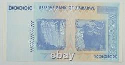 2008 100 Trillions De Dollars Zimbabwe Billet De Banque Aa P-91 Gem Unc Note Devise