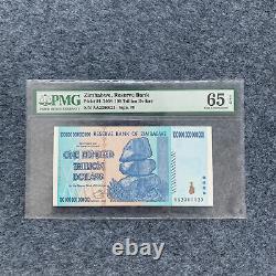 2008 Zimbabwe 100 Trillions De Dollars Billets Monnaie Unc Pmg 65 S/n Aa2300023