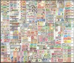 200 Pcs Unc Billets De Billets Du Monde Différents Mixtes Billets De Monnaie Véritable Unc