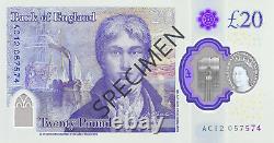 2020 New Polymer Issue Bank Of England Currency £20 Vingt Livres Billets De Banque