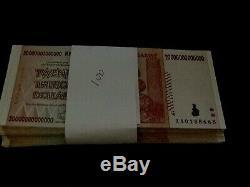 20 Trillions De Dollars En Dollars Zimbabwéens Banque Aa 2008 Série De Monnaies 100 Billets Non Joints