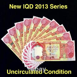 250 000 Monnaie New Irak (iqd) 2013 25000 Iraqi Dinar (2013) X 10 Pcs Unc
