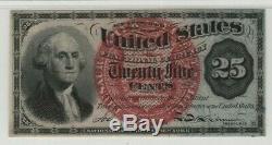 25 Cent Quatrième Numéro Fractional Postal Monnaie Fr. 1303 Pmg Certifié Cu 64 Unc