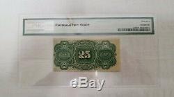 25 Cents Quatrième Numéro Fractional Currency Pmg 62, Unc Epq, Fr # 1307