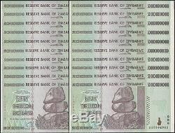 25x 50 Milliards De Dollars En Devise De Zimbabwe. Unc USA Vendeur
