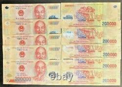 2 Millions De Dong Vietnamiens 10 X 200 000 Billets Vnd Unc (nouvelle Monnaie Du Vietnam)