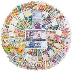 300 Mélanges De Billets De Banque Mondiaux 50 Pays Notes De Monnaie Authentiques Unc