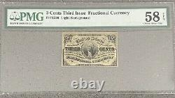 3 Cent- Fractional Currency-fr1226 Third Issue Pmg 58 Choice About Unc