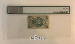 3c Fractionnel Monnaie Troisième Numéro Fr. # Dark Contexte Pmg 1227 63 Choix Unc