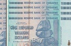 4/100 Trillions De Monnaie En Dollars Zimbabwéens. Livraison Gratuite USA Vendeur USA