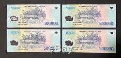 4 X 500 000 Vietnam Dong Money Polymeres Billets De Billets Millions De Vietnamiens Unc
