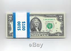 50 Two Dollar $ 2 Valeurs Nouvelle Série 2013 Séquentiel Mpe Monnaie Américaine Unc