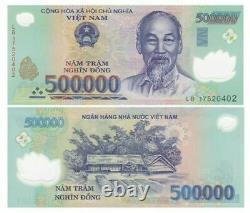 5,000,000 Monnaie Vietnamienne 5 Millions D'argent Vnd 10 X 50000 Unc